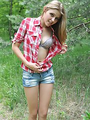 The good picnic in the deep forest may become better if she starts to behave naughty. It happened, lover get lucky.